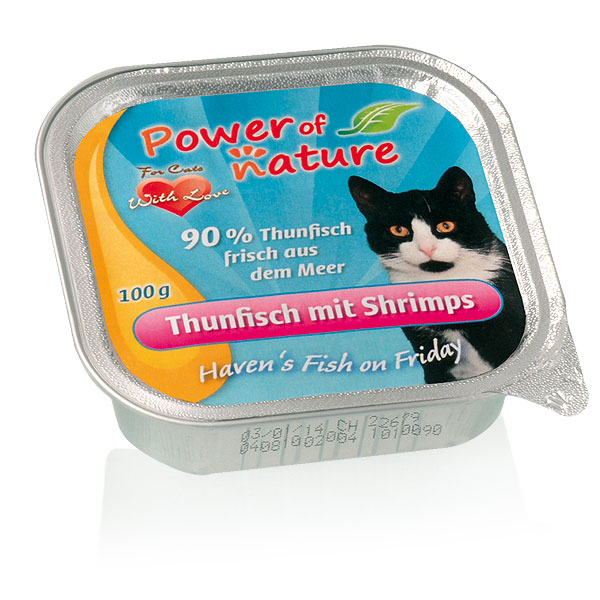 Power of Nature Haven's Fish on Friday Thunfisch Shrimps 32 x 100g